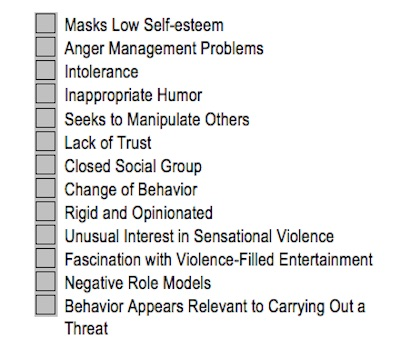 The Problem with Threat Assessment Checklists