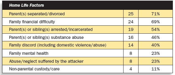 Stressors of school attackers